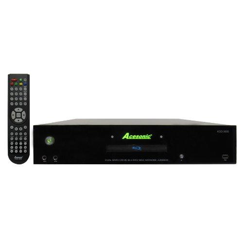 Acesonic KOD-3000 Dual Hard Drive Network Blu-ray Disc Karaoke Jukebox with 550 Songs Preloaded (Karaoke Song Hard Drive)