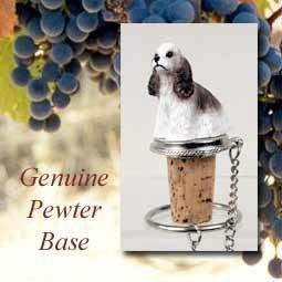 - Cocker Spaniel Brown/White Wine Bottle Stopper DTB15D by Conversation Concepts