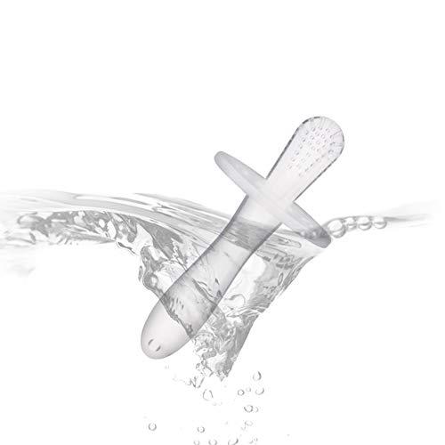 Beb/é de silicona Mordedor de silicona Palos molares Suave dientes molares Etiqueta M/áquina de molienda de silicona para beb/é Masajeador-Blanco-1 Tama/ño