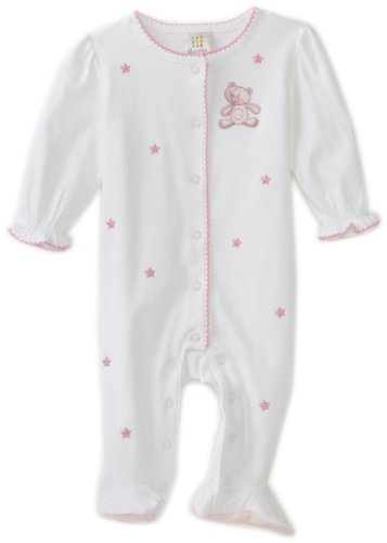 ABSORBA Baby-Girls Newborn Sweet Bear Girls Footie