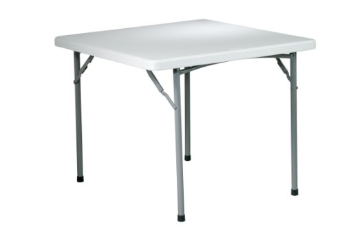 Metal Plastic Folding Table (Office Star Resin Multipurpose Square Table,)