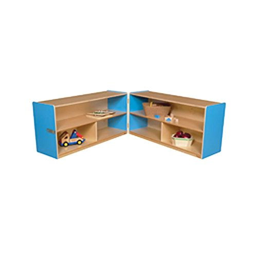 Wood Designs Kids Play Toy Book Plywood Organizer Wd12530B Blueberry Folding Versatile Storage Unit, 24''H by Wood Designs