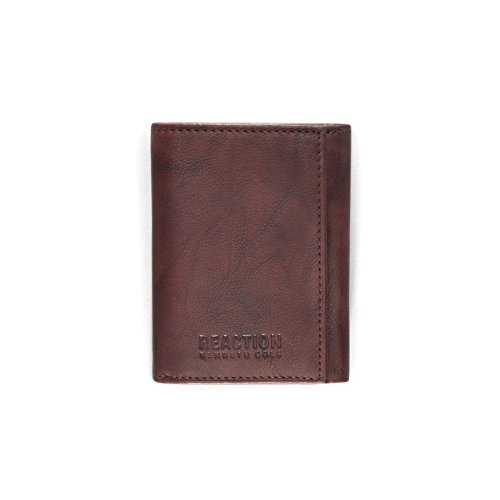 Kenneth Cole REACTION Men's RFID Blocking Crunch Trifold Wallet,Brown,One Size