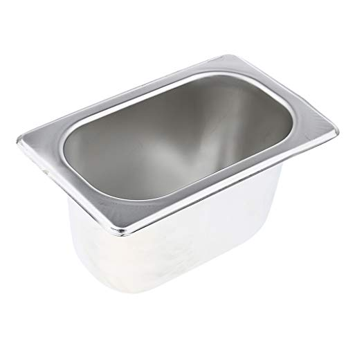 Flameer 1/9 Size 4'' Deep Silver Stainless Steel Hotel Restaurant Steam Table Pan