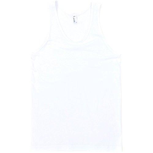 Tank Contrast Jersey Mens American White Apparel Top 100 Cotton Fine 4Aq0AY