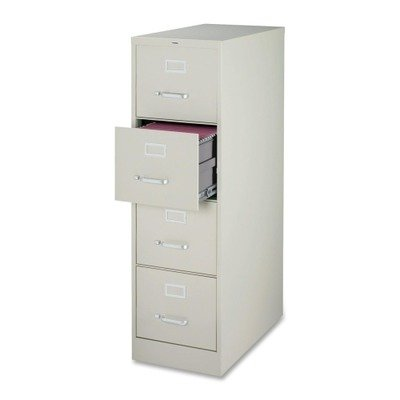 Lorell 4-Drawer Vertical File, 15 by 22 by 52, Light Gray by Lorell