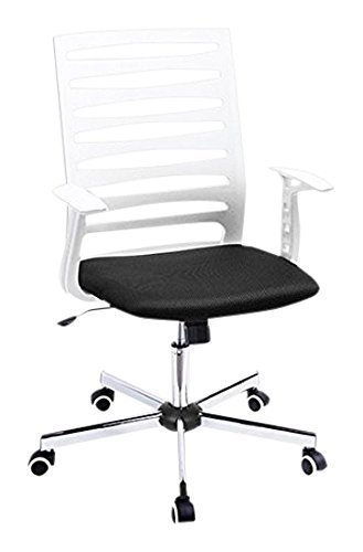 Price comparison product image FurnitureR Office High Back Adjustable Desk Executive Chair with Wheels and Arm Rest,  Black
