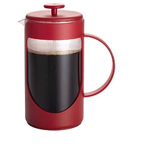 BonJour Coffee & Tea 8-Cup French Press, Red