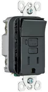 15 AMP BLACK GFI RECEPTACLE GROUND FAULT GFCI COBRA CO-GF15BK-2L