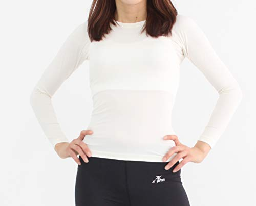 Xprin A100 Series Women's Long Sleeve Cool Base Layer Compression Shirt Sports Wear (S, A102 WHITE) by XPRIN (Image #6)