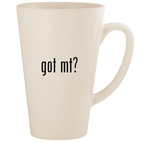 got Mt? - White 17oz Ceramic Latte Mug Cup
