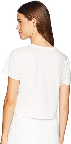 Juicy Couture Women's Knit JXJC Embellished Logo Graphic Tee Bleached Bone Medium by Juicy Couture (Image #2)
