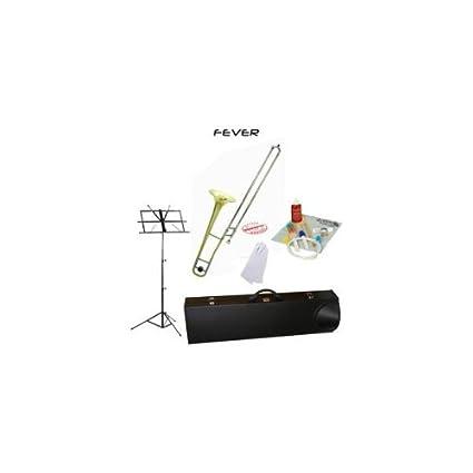 31FnI SwbsL._SX425_ amazon com fever student slide gold lacquer b flat trombone school