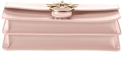 A 9x17x28 H Spalla 5 Pinko Borsa rosa X Chiaro w Donna Seta Vitello Tracolla Love Rosa Simply Cm L vq68AqS0