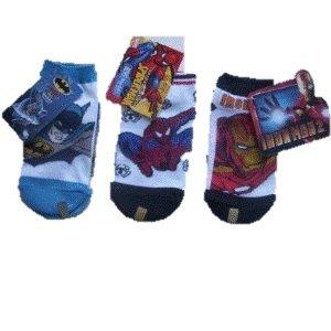 Disney Low Cut Socks Kids Size 6 to 8.5 Spiderman Batman Ironman