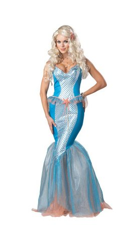 [Sea Siren Costume - Large - Dress Size 10-12] (Sea Siren Sexy Costumes)