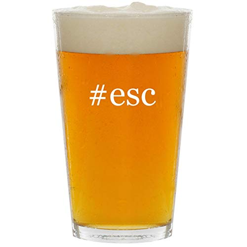 Esc Media - #esc - Glass Hashtag 16oz Beer Pint