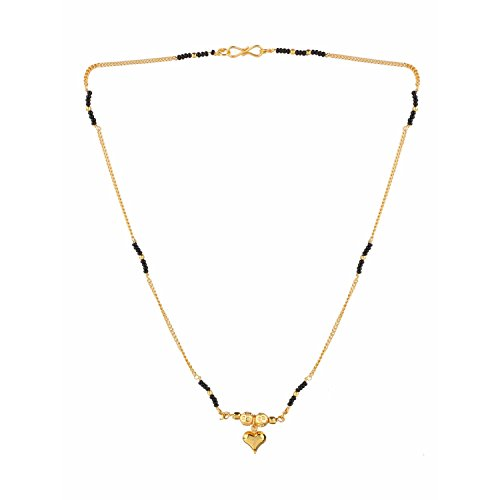 Efulgenz Indian Bollywood Traditional Gold Plated Ruby Emerald/Color CZ Stone Mangalsutra Pendant Necklace Jewelry with Chain for Women ()