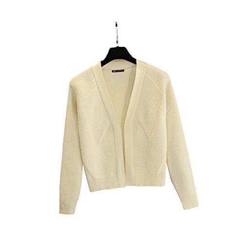 ulricar レディース セーター ニット カーディガン コート 長袖 Vネック 春 ゆったり スリム シンプル ファッション