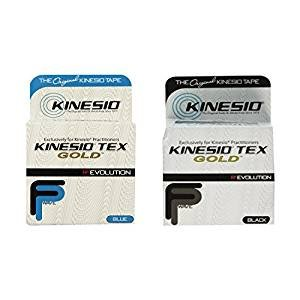 Kinesio Tex Gold Tape 2'' x 16.4' Blue & Black Combo Pack