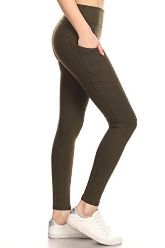Leggings High Waisted Leggings -Soft & Slim : Solid Colors