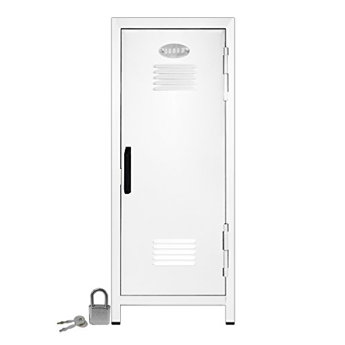 Mini Locker with Lock and Key White -10.75