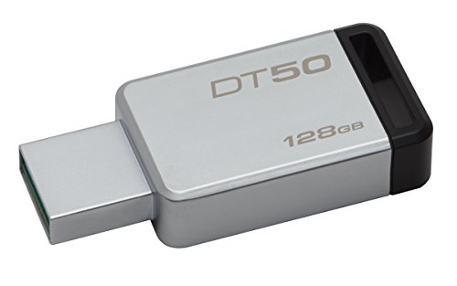 Kingston DataTraveler 128GB USB 3.1 Flash Drive Black DT50/128GB