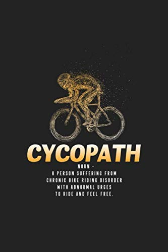 Cycopath: 120 Blank Lined Page Softcover Notes Journal | College Ruled Composition Notebook | 6x9 Blank Line (Best Race Wheels For Triathlon)
