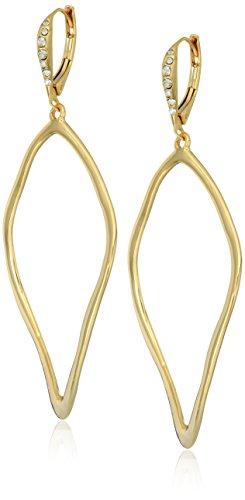 Alexis Bittar Leverback w/ Sculpted Aura Tear Gold Tone Drop (Alexis Bittar Ring)