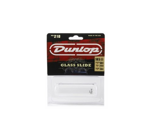 Wall Glass Guitar Slide - Dunlop 210 Tempered Glass Slide, Medium Wall Thickness, Medium