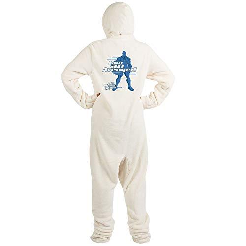 CafePress Avenger Captain America Novelty Footed Pajamas, Funny Adult One-Piece PJ Sleepwear -