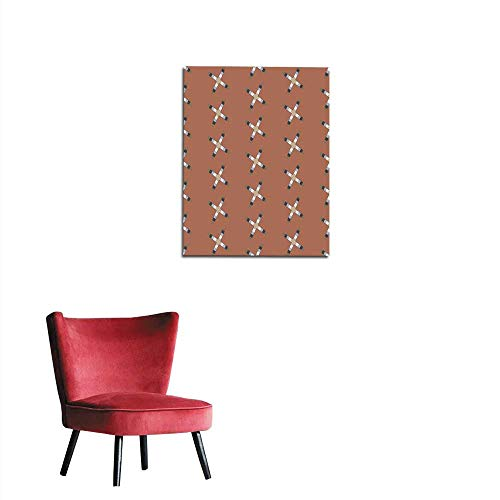 longbuyer Painting Post Seamless Abstract Pattern from Rectangle Intersections Mural 24