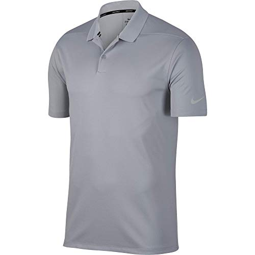 Nike Men's Dry Victory Solid Polo Golf Shirt, Wolf Grey/Black, X-Large