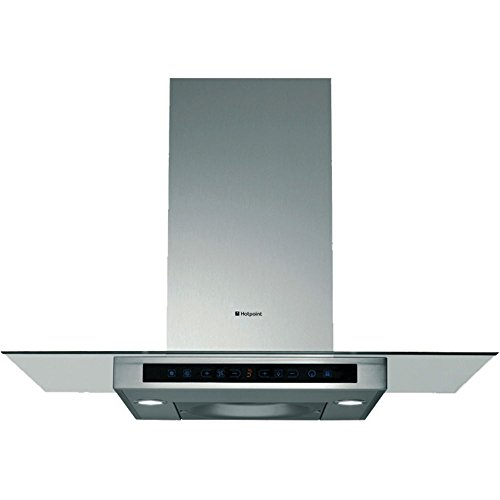 (Hotpoint HTS93G Extra Quiet Flat Glass And Stainless Steel Chimney Cooker Hood)