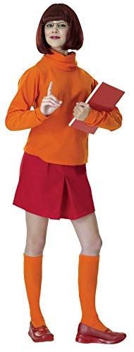 Velma Halloween Costume For Adults (Rubie's Costume Scooby-Doo Deluxe Adult Velma Costume, VELMA, Standard)