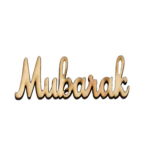 Home Ornaments 15PCS English Alphabet Wooden Plaque Eid DIY Pendant Home Decorations Party Supplies