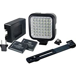 Vidpro LED Digital Photo & Video Camcorder Light with Batteries, Charger and Bracket
