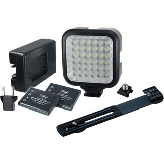 Power 2000 Vidpro LED Digital Photo & Video Camcorder Light with Batteries, Charger and Bracket