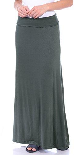 Popana Women's Casual Long Convertible Maxi Skirt Summer Beach Cover Up Made in USA Slate ()