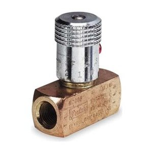 Needle Valve, Brass, 1/8-27, 3 GPM, 2000 PSI from Parker