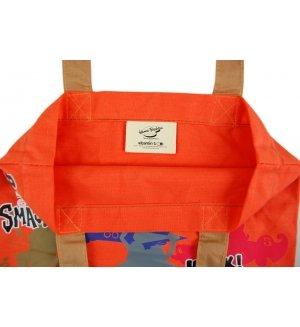 Genuine retro Hanna Barbera Wacky Races collage Cotton Tote shopping bag Summer bag