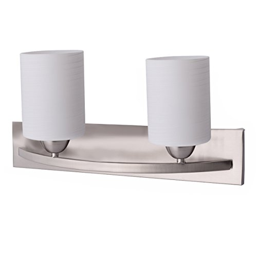 Tangkula Bathroom Vanity Lamp Shade Lamp Cover for Glass Wall Sconce Pendant Lamp (Nickel, 2)