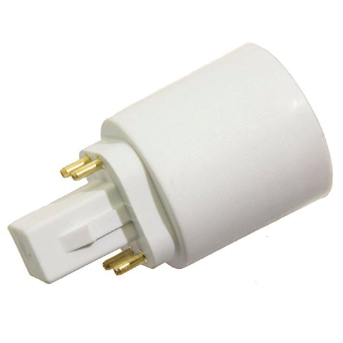 G24 to E27 E26 4-Pin LED Light Sockets Adapter, Light Bulb Socket, Bulb Base Adapter, Converters Lamp Holder (Pack of 5) by Xinyixing (Image #2)