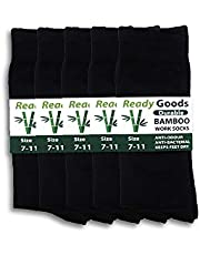 5 Pairs Ready Goods Mens Durable Bamboo Black Socks Odour & Bacteria Resistant