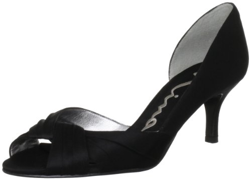 Nina Women's Culver Bridal Pump,Black Luster Satin,6.5 M US
