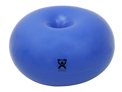 CanDo Donut Exercise, Workout, Core Training, Swiss Stability Ball for Yoga, Pilates and Balance Training in Gym, Office or Classroom. Blue, 85 cm W x 40 cm