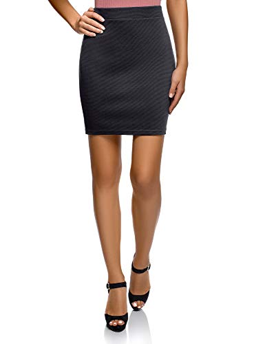 (oodji Ultra Women's Basic Jersey Skirt, Blue, 2)