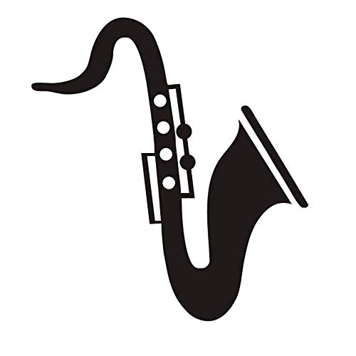 RONGAN Saxophone Wall Stickers for Kids Rooms Headboard Decorative Musical Instrument Vinyl Nursery Baby Home Decor Poster Wall Decals 40X44 - Low Poster Headboard