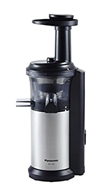 Panasonic MJ-L500 Slow Juicer with Frozen Treat Attachment, Black/Silver