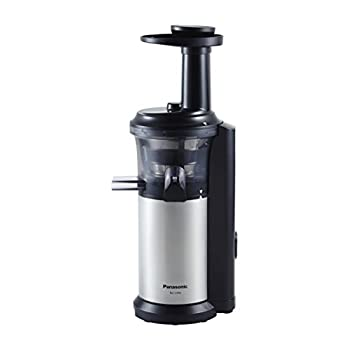 Image of Panasonic MJ-L500 Slow Juicer with Frozen Treat Attachment, Black/Silver